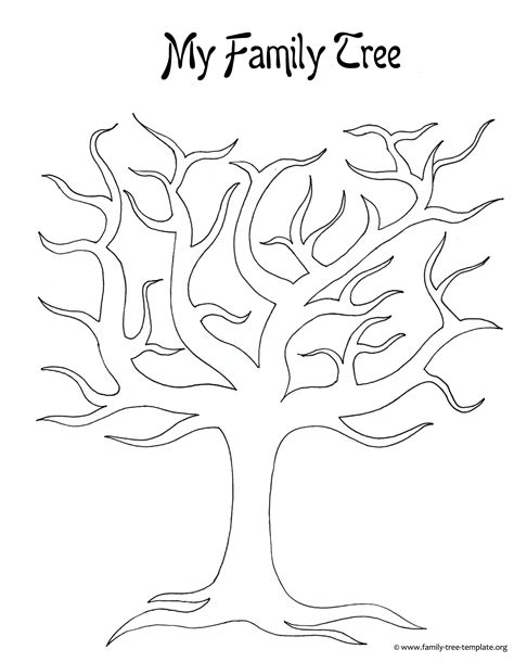 printable tree template search results for blank family tree template for