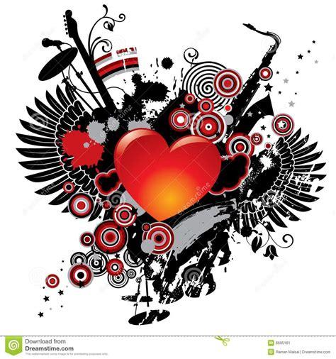 een dierenspeciaalzaak met een u illustratie op een muzikaal thema met een hart vector