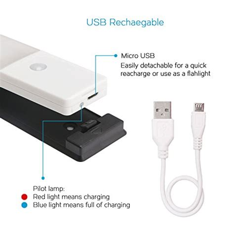 Drok Usb Rechargeable Under Cabinet Lighting Light And Wireless Cabinet Lighting With Switch