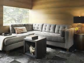 contemporary small living room decoration gray sofa