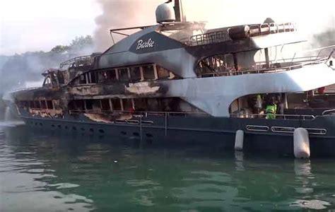 two superyachts damaged in turkish marina
