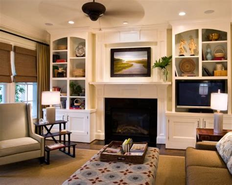 living room built in built ins around fireplace houzz