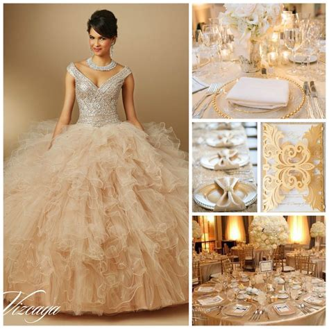 quinceanera themes gold 174 best quince dress images on pinterest quince dresses