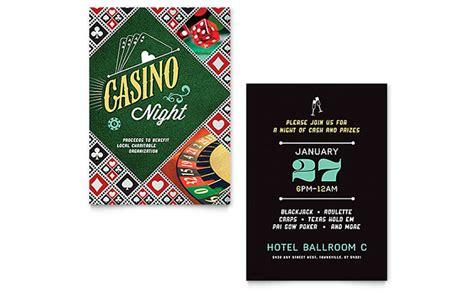 casino template casino invitation template design