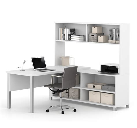premium modern executive office desk premium modern l shaped desk with hutch in white computerdesk