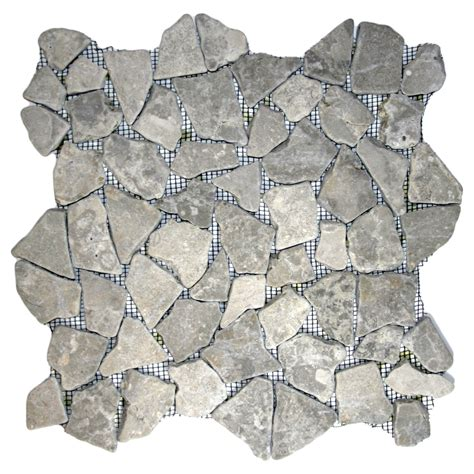 stone grey mosaic tile pebble tile shop