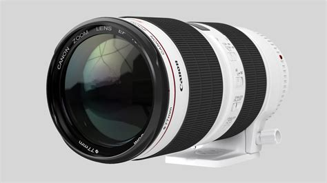 canon model canon zoom lens ef 70 200mm 1 2 8 l is ii usm 3d model max
