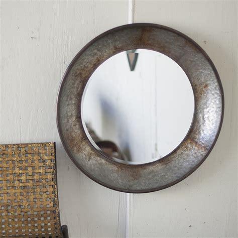Outdoor Lighted Signs - kalalou large round metal mirror cmn1005