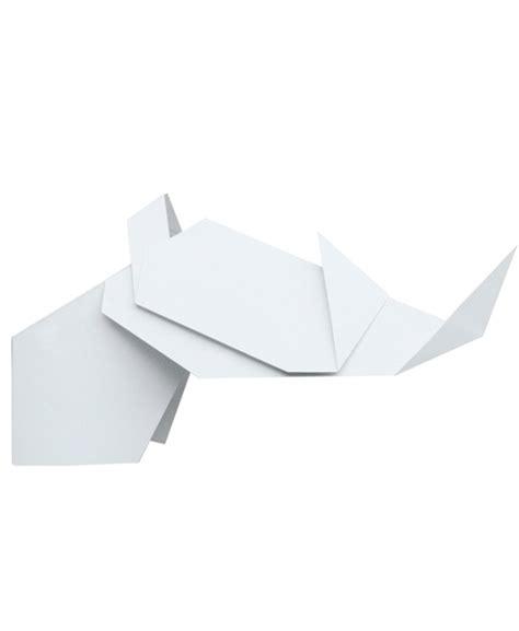 Origami White - origami lshade goat white sconce fubiz media