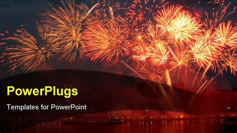 Powerpoint Template Lots Of Sparkling Bright Fireworks On Fireworks Animation For Powerpoint
