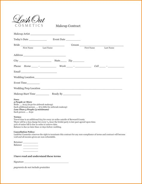 fashion model application form template 9 fashion show contract template financial statement form