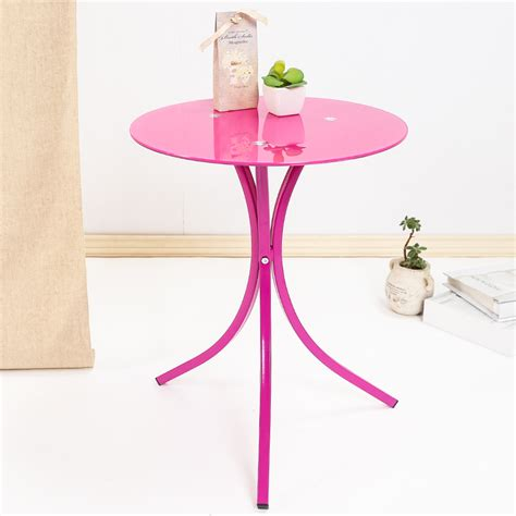round table phone fashion simple tempered glass small coffee table phone