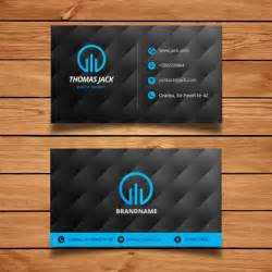 blue business card template black and blue modern business card template vector free