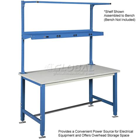 electrical work benches work bench systems adjustable height 72 quot w shelf with