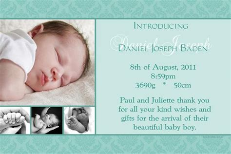 Text Baby Announcement Birth Announcements Text Birth Announcements Templates