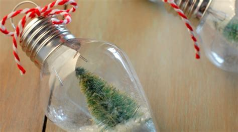 diy mini snow globe ornament holiday inspiration