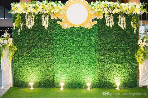 Wedding Backdrop Green by 10x8ft Green Wall Backdrop Wedding White Yellow Flowers