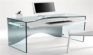 Modern Glass Office Desks Creative Desk Modern Glass Computer Desk Glass Computer Desk Interior Designs Nanobuffet