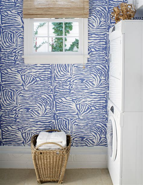 zebra wallpaper for bedrooms wallpapered laundry rooms centsational style