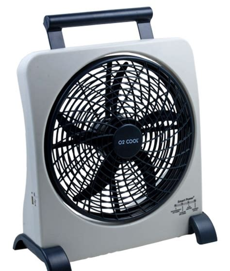 rechargeable battery powered fan o2 cool 10 quot smart power rechargeable fan