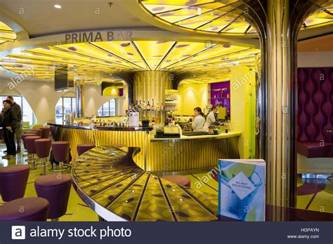 aidaprima bars bar onboard of the aidaprima cruise ship stock photo