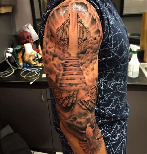 religious tattoo sleeves for men best 25 christian sleeve ideas on