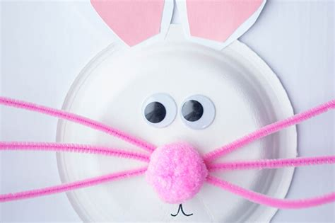 Easter Bunny Paper Plate Craft - paper plate easter bunny craft is a lullaby