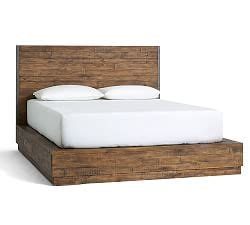 wood bed frames and headboards wood headboards and bed frames pottery barn