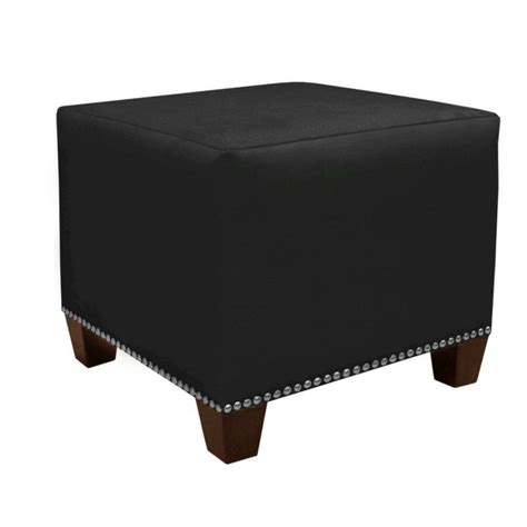microsuede ottoman skyline furniture square ottoman in premier microsuede