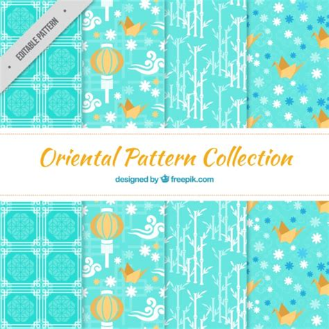 oriental pattern vector free download japanese elements light blue patterns vector free download