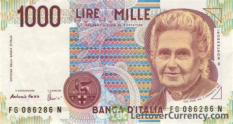 d italia lire mille 1000 italian lire montessori exchange yours for