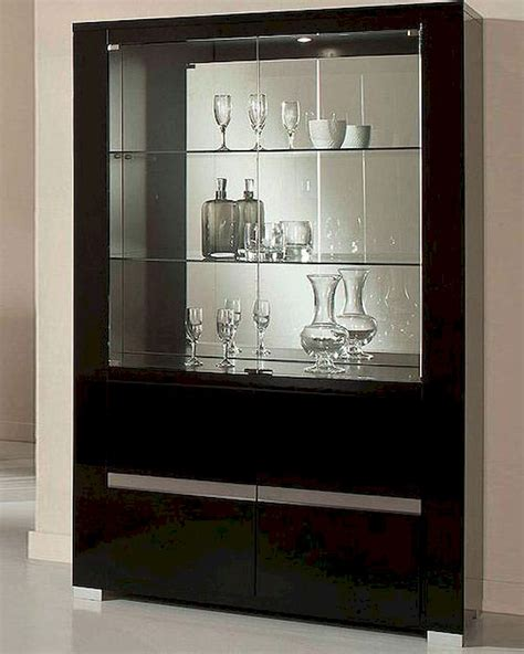 black china hutch cabinet adriana modern black china cabinet 44dadrcc