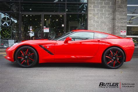 chevrolet corvette   lexani lf wheels exclusively  butler tires  wheels