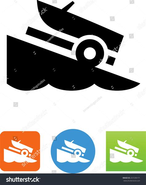boat launch icon boat r icon stock vector 257230171 shutterstock