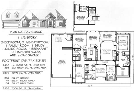 3200 Sq Ft House Plans 3 Bedrooms 1 189 Story 2701 3200 Square
