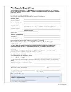 wire transfer request form free download