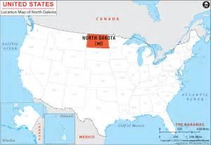 North Dakota Map Usa by Where Is North Dakota Location Of North Dakota