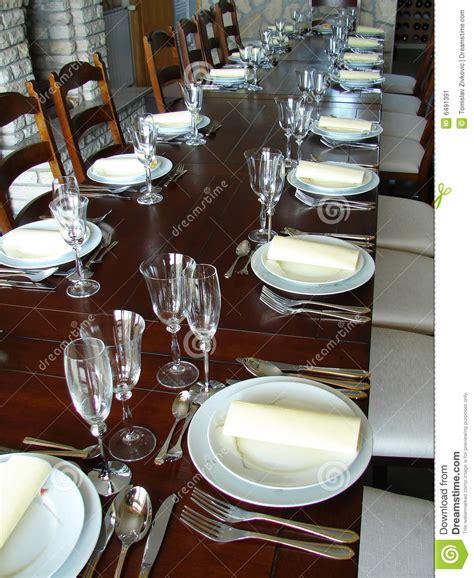 table settings for dinner dinner table setting stock image image 6491391