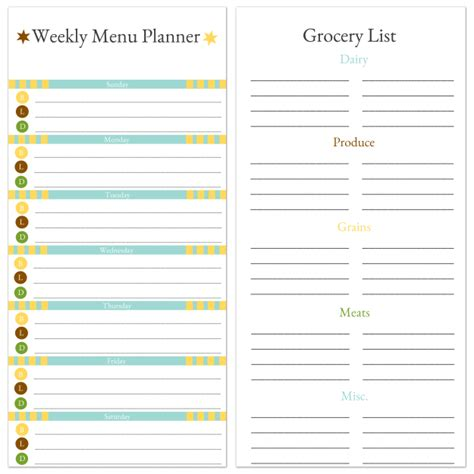 my indian version weekly school lunch planner weekly menu planner