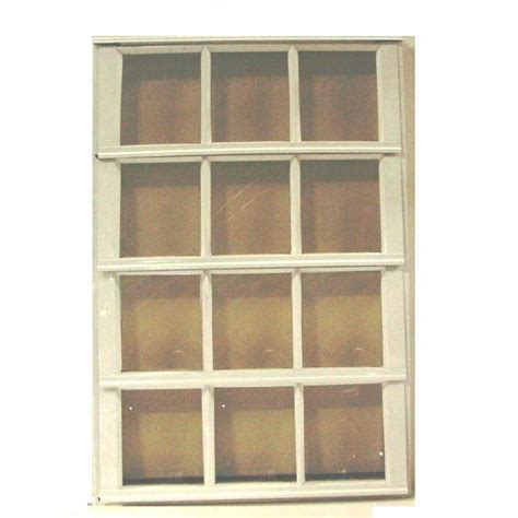 Glass Louver Doors Air Master Windows And Doors 30 In X 37 375 In S 9 Louver Aluminum Window White 50159