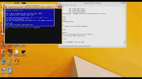 dosbox tutorial windows 10 tutorial on dosbox 0 74 windows 8 pc youtube