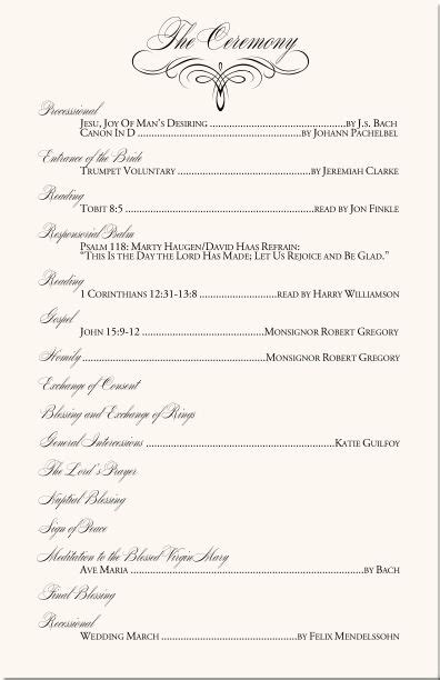 Catholic Wedding Ceremony Program Template Without Mass Mini Bridal Catholic Wedding Ceremony Program Without Mass Template