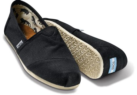 tom shoes black canvas s classics toms