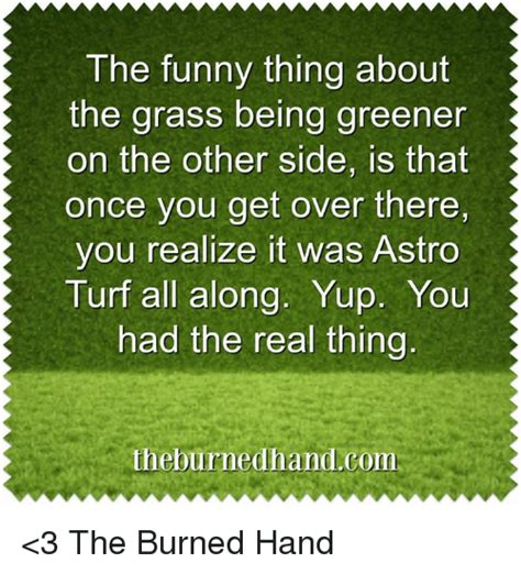 the grass is greener till you get to the other side books 25 best memes about astro turf astro turf memes