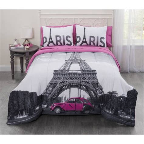 eiffel tower bed set casa photo real paris eiffel tower bed in a bag bedding set walmart com