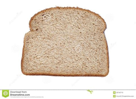 carbohydrates 1 slice bread sliced of whole wheat bread stock image image 26742715