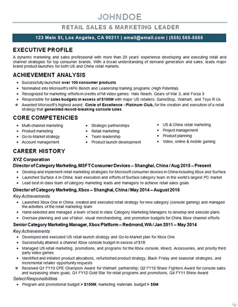 Core Competencies Examples For Resume by Marketing Director Resume Example