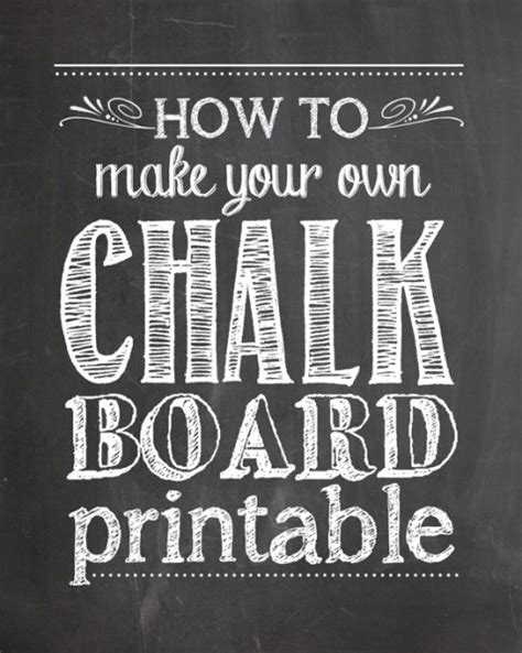 diy chalkboard print best diy projects and time the 36th avenue