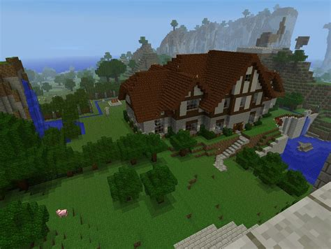 How Big Is A Cottage Big Cottage Mansion Minecraft Project