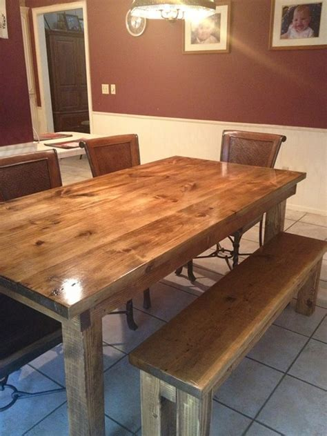 How To Stain Dining Table 6 Farmhouse Table In Vintage Early American Stain Transitional Dining Room